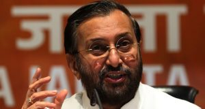 Senior BJP leader Prakash Javadekar addressing a Press conference on Andhra Pradesh issue after the Press Conference by Chief Minister N Chandrababu Naidu in New Delhi on Wednesday. Express Photo by Amit Mehra. 04.04.2018. *** Local Caption *** Senior BJP leader Prakash Javadekar addressing a Press conference on Andhra Pradesh issue after the Press Conference by Chief Minister N Chandrababu Naidu in New Delhi on Wednesday.