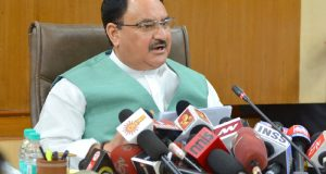 The Union Minister for Health & Family Welfare, Shri J.P. Nadda briefing the media on issues related to NEET, in New Delhi on May 24, 2016.