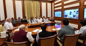 The Prime Minister, Shri Narendra Modi chairing twenty- seventh interaction through PRAGATI - the ICT-based, multi-modal platform for Pro-Active Governance and Timely Implementation, in New Delhi on June 27, 2018.