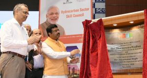 The Union Minister for Petroleum & Natural Gas and Skill Development & Entrepreneurship, Shri Dharmendra Pradhan inaugurate the office of the Hydro Carbon Sector Skill Council, in New Delhi on July 23, 2018.