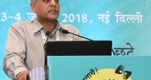 "The Election Commissioner, Shri Ashok Lavasa addressing the closing session of the National Consultation on ""Inclusion of Persons with Disabilities (PwDs) in the Electoral Process"", in New Delhi on July 03, 2018."