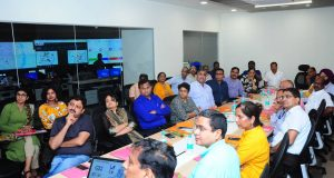 IAS-Probationers-inside-Bhubaneswar-Operations-Centre