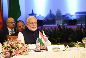 The Prime Minister, Shri Narendra Modi and other BIMSTEC leaders at the signing ceremony of BIMSTEC convention and the adoption of Kathmandu Declaration, in Nepal on August 31, 2018.