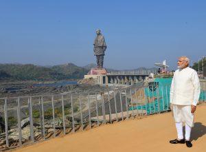 The Prime Minister, Shri Narendra Modi dedicates the 'Statue of Unity' to the Nation, on the occasion of the Rashtriya Ekta Diwas, at Kevadiya, in Narmada District of Gujarat on October