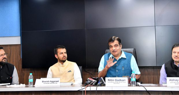 The Union Minister for Road Transport & Highways, Shipping and Water Resources, River Development & Ganga Rejuvenation, Shri Nitin Gadkari addressing at the release of the Ease of Moving Index-India Report, 2018, in New Delhi on November 01, 2018.