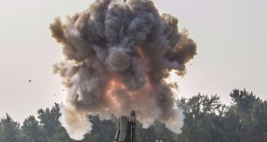Agni V, a long-range surface-to-surface Nuclear Capable Ballistic missile successfully launched from a canister on a road mobile launcher at the Dr. Abdul Kalam Island off the coast of Odisha, on December 10, 2018.