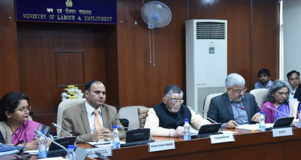 The Minister of State for Labour and Employment (I/C), Shri Santosh Kumar Gangwar chairing the 223rd Central Board of Trustees meeting of EPFO, in New Delhi on December 04, 2018. The Secretary, Ministry of Labour and Employment, Shri Heeralal Samariya is also seen.