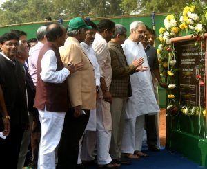 hief Minister Shri Naveen Patnaik Laying foundation stone of Institute of MANUU Cuttack Campus at Cutta