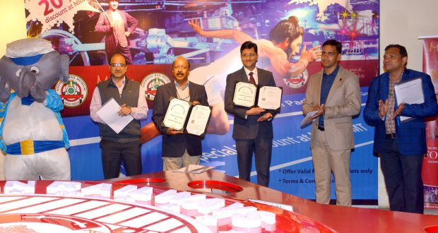 The Secretary, Railway Board, Shri Ranjanesh Sahai and the Director & General Manager of Madame Tussauds, Shri Anshul Jain signed an MoU between Ministry of Railways' National Rail Museum (NRM) and Madame Tussauds Wax Museum, in New Delhi on December 04, 2018.