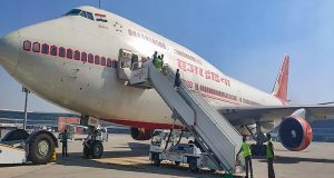 New Delhi: A B747 aircraft of the Air India at the IGI Airport before its departure for coronavirus-hit city of Wuhan in China to bring back Indians, in New Delhi, Friday, Jan. 31, 2020. (PTI Photo)  (PTI1_31_2020_000229B)