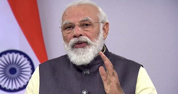 **EDS: TWITTER IMAGE POSTED BY @BJP4India ON FRIDAY, JULY 17, 2020** New Delhi: Prime Minister Narendra Modi speaks at the High-Level Segment of ECOSOC via video conferencing, in New Delhi. (PTI Photo)(PTI17-07-2020_000207B)