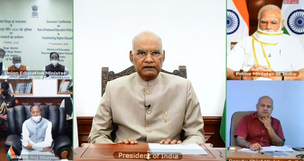 The President, Shri Ram Nath Kovind addressing the inaugural session of Governors' Conference on National Education Policy, through video conferencing, in New Delhi on September 07, 2020.