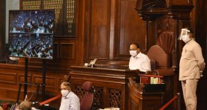 Rajya Sabha practices ahead of Monsoon Session from Monday.