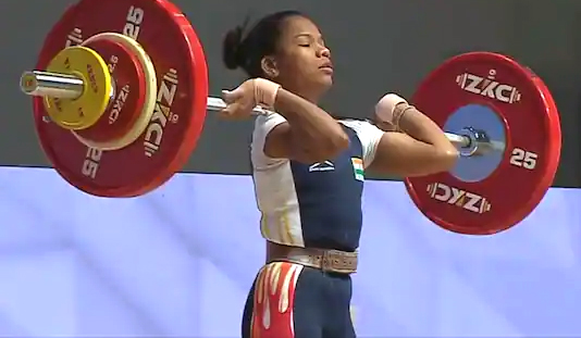 Odia-woman-weightlifter-Jhilli-Dalabehera-bags-gold-at-Asian-championship-in-Tashkent